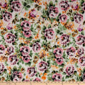 Fabric Merchants ITY Jersey Knit Roses Ivory/Pink