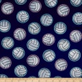 Exclusive Shannon Studio Digital Minky Cuddle Volleyball Navy