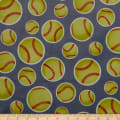 Exclusive Shannon Studio Digital Minky Cuddle Softball Graphite