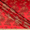 Fabric Merchants Chinese Brocade Floral Red