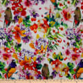 Telio Mirage Rayon Jersey Knit Digital Floral Print Red Lilac Multi