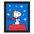 "Peanuts Snoopy Red Baron 36"" Panel Blue"