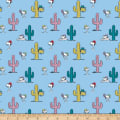 Peanuts Snoopy and Cacti Blue