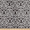 Shannon Minky Cuddle Damask Ash/Snow