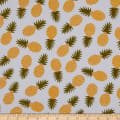 Girl Charlee Cotton Jersey Knit Pineapples On White