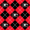 Collegiate Fleece University of Georgia Argyle