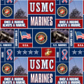 Military Fleece U.S. Marines Blocks Multi