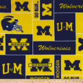 NCAA Michigan Wolverines Fleece Blocks