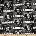 NFL Fleece Oakland Raiders Stripes Black/Grey