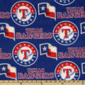 MLB Fleece Texas Rangers Toss Red/White/Royal
