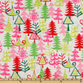 Michael Miller Holiday Funky Christmas Yule Trees Santa