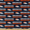 NFL Cotton Broadcloth Denver Broncos Orange/Blue