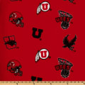 Collegiate Fleece University of Utah Tossed Red