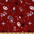 Collegiate Cotton Broadcloth University of Oklahoma Bandana Red