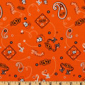 Collegiate Cotton Broadcloth Oklahoma State University Bandana Orange