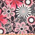 Michael Miller Contemporary Florals Flower Shower Petal Pink