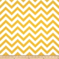 Premier Prints Zig Zag Slub Yellow/White