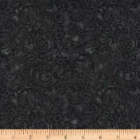 "108"" Tonal Scroll Quilt Backing Black"