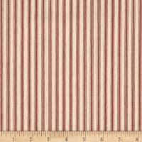 "44"" Ticking Stripe Red"
