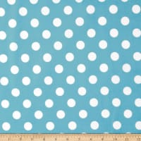 Riley Blake Flannel Basics Dots Medium Aqua