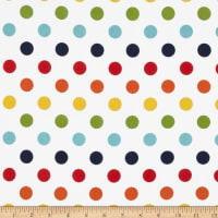 Riley Blake Medium Dots Flannel Rainbow