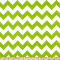 Riley Blake Medium Chevron Flannel Lime