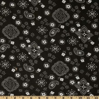 Bandana Prints Black