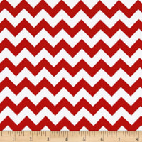 Riley Blake Jersey Knit Chevron Small Red