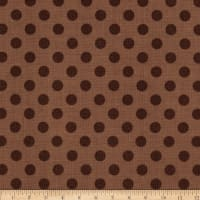Riley Blake Small Dots Tone on Tone Brown
