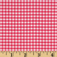 "Riley Blake 1/8"" Gingham Hot Pink"