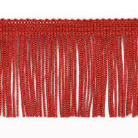 "2"" Chainette Fringe Trim Red"
