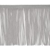 "4"" Chainette Fringe Trim Grey"