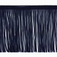 "4"" Chainette Fringe Trim Navy Blue"