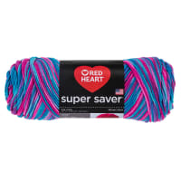 Red Heart Super Saver Yarn 784 Bonbon Print