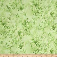 "Day Lily 108"" Wide Quilt Backs Floral Green"