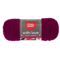 Red Heart Yarn With Love 1907 Boysenberry