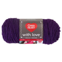 Red Heart Yarn With Love 1542 Aubergine