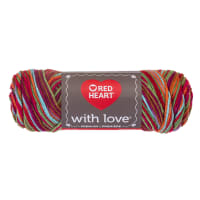 Red Heart Yarn With Love Variegated 1944 Fruit Punch
