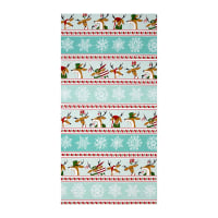 "Where's Rudolph? Reindeer Stripe Aqua 22"" Panel"