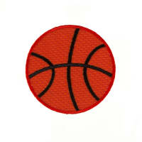 Basketball Large Applique Orange