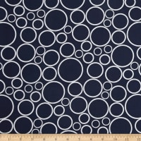 "108"" Wide Geo Circles Wide Navy"
