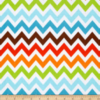 Remix Chevron Bermuda Orange/Blue