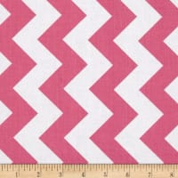 "Riley Blake 108"" Wide Medium Chevron Hot Pink"