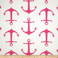 Premier Prints Anchor Candy Pink/White