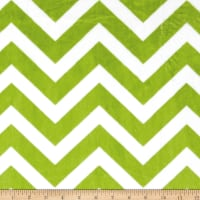 Shannon Minky Cuddle Chevron Jade/Snow