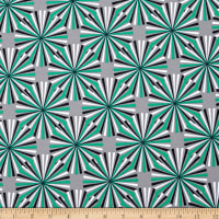 Kaufman Laguna Stretch Cotton Jersey Starburst Emerald