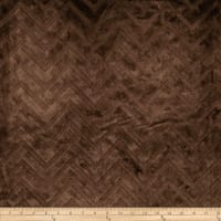 Shannon Minky Cuddle Embossed Chevron Brown
