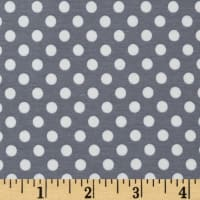 Riley Blake Jersey Knit Small Dots Gray
