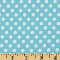 Stretch Knit Small Dots Aqua