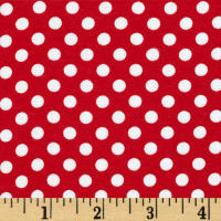 Riley Blake Knit Small Dots Red